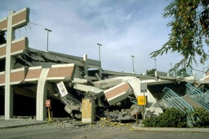 Parking structure on CSU-Northridge campus. 1994 Northridge Earthquake
